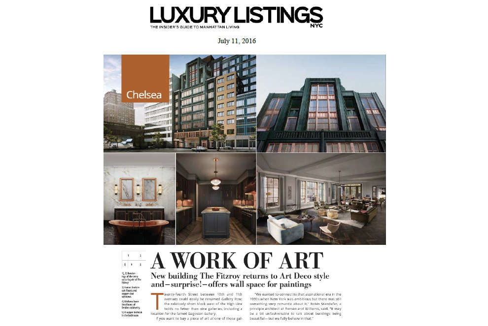 A WORK OF ART – Luxury Listings NYC Magazine